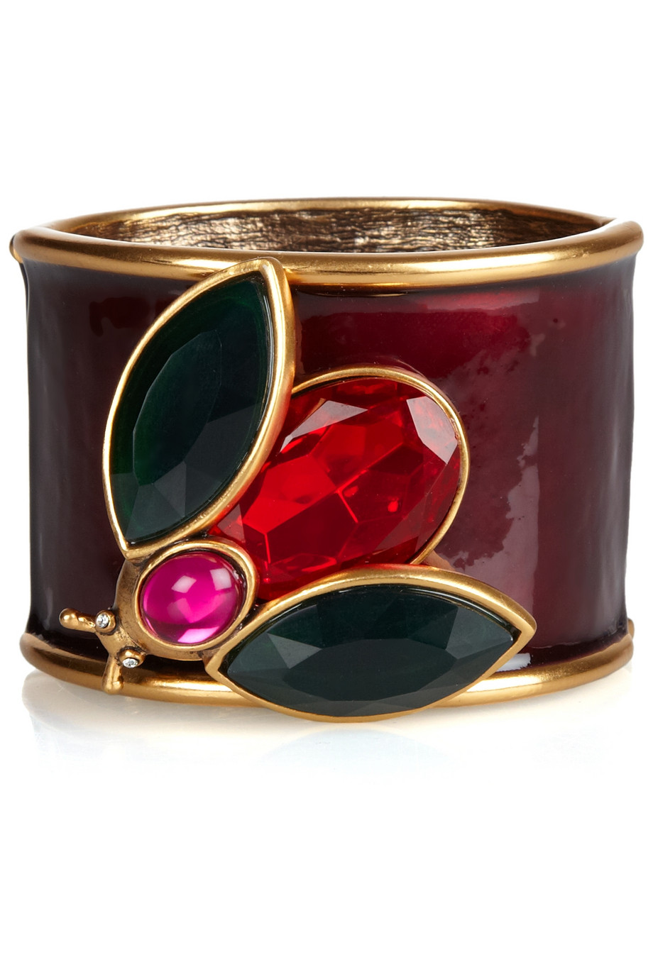 Enamle and Crystal Insect Cuff