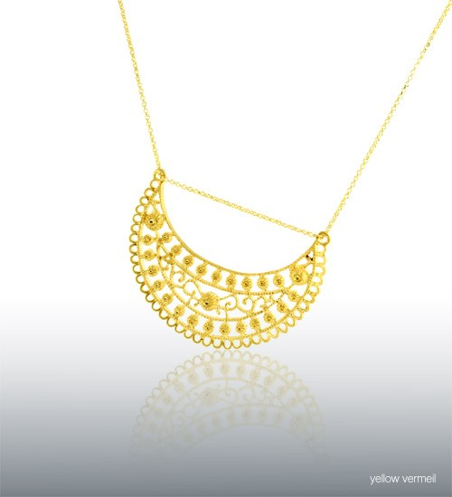 Zahrah Crescent Necklace